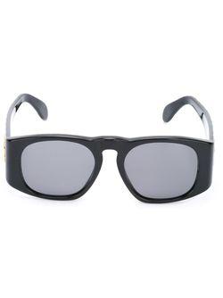 Солнцезащитные Очки Со Стеганым Эффектом Chanel Vintage                                                                                                              черный цвет