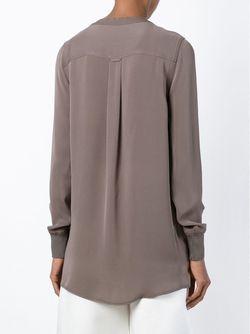 Блузка С Подолом В Рубчик Steffen Schraut                                                                                                              серый цвет