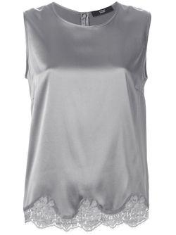 Блузка С Кружевным Подолом Steffen Schraut                                                                                                              серый цвет