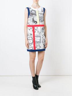 Платье Шифт С Принтом Tsumori Chisato                                                                                                              серый цвет