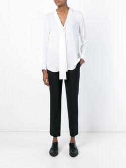 Плиссированная Рубашка С Бантом Michael Michael Kors                                                                                                              белый цвет