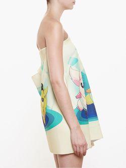 Мини-Платье С Принтом Bad Yoda Awake                                                                                                              белый цвет