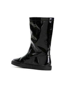 Лакированные Сапоги Jil Sander Navy                                                                                                              черный цвет