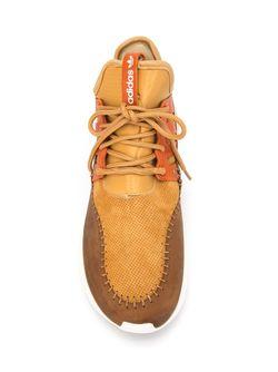 Кроссовки Tubular Moc Runner adidas Originals                                                                                                              коричневый цвет