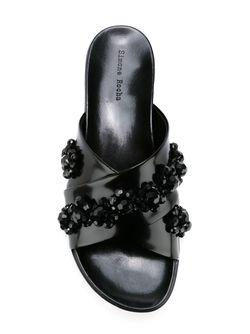 Декорированные Шлепанцы Simone Rocha                                                                                                              чёрный цвет