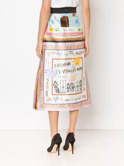 Childs Drawing Printed Skirt Dolce & Gabbana                                                                                                              белый цвет