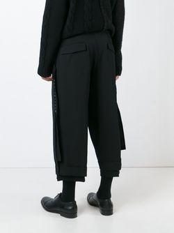 Buttoned Cuff Trousers Yohji Yamamoto                                                                                                              черный цвет