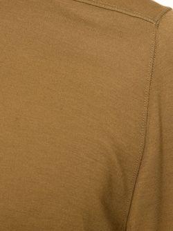 Футболка С Круглым Вырезом Rick Owens                                                                                                              коричневый цвет