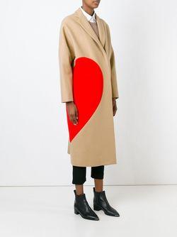 Пальто С Контрастной Аппликацией MSGM                                                                                                              Nude & Neutrals цвет