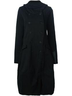 Двубортное Пальто Свободного Кроя Rundholz                                                                                                              чёрный цвет
