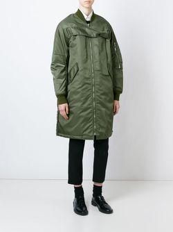 Дутое Пальто-Бомбер 3.1 Phillip Lim                                                                                                              зелёный цвет
