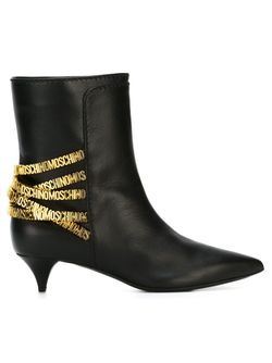 Ботинки С Логотипом Moschino                                                                                                              чёрный цвет
