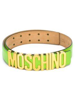 Ремень С Логотипом Moschino                                                                                                              зелёный цвет