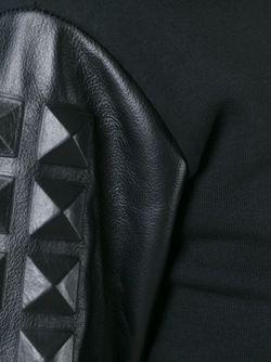 Толстовка С Заклепками-Пирамидками На Рукавах Philipp Plein                                                                                                              черный цвет