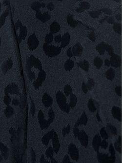 Жаккардовое Пальто С Леопардовым Узором Saint Laurent                                                                                                              чёрный цвет