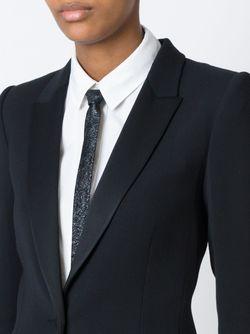 Фактурный Тонкий Галстук Saint Laurent                                                                                                              черный цвет
