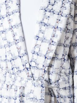 Пальто В Клетку С Поясом PONTI                                                                                                              белый цвет
