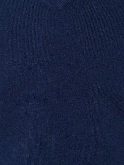 Свитер С V-Образным Вырезом Aspesi                                                                                                              синий цвет