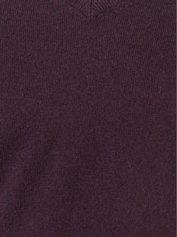 Свитер С V-Образным Вырезом Aspesi                                                                                                              красный цвет
