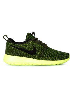 Кроссовки Roshe One Flyknit Nike                                                                                                              желтый цвет