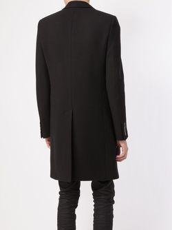 Однобортное Пальто Saint Laurent                                                                                                              чёрный цвет