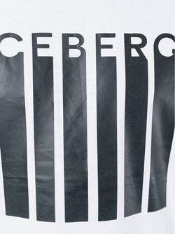 Футболка С Принтом Логотипа ICEBERG                                                                                                              белый цвет