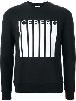 Толстовка С Принтом Логотипа ICEBERG                                                                                                              чёрный цвет