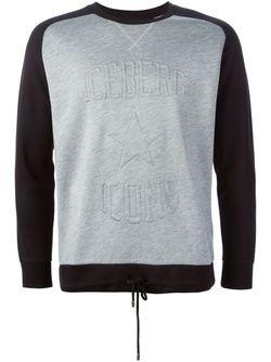 Толстовка С Тисненым Логотипом ICEBERG                                                                                                              серый цвет