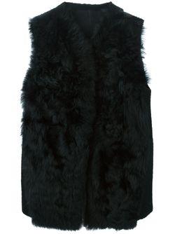 Меховой Жилет Из Овчины Ann Demeulemeester                                                                                                              черный цвет