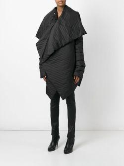 Свободное Драпированное Пальто Rick Owens                                                                                                              чёрный цвет
