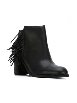 Ботинки По Щиколотку С Бахромой See By Chloe                                                                                                              черный цвет