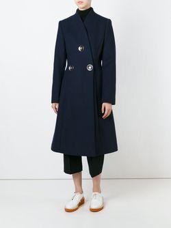 Двубортное Пальто Penrose Stella Mccartney                                                                                                              синий цвет