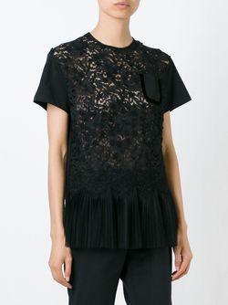 Кружевная Блузка С Баской No21                                                                                                              чёрный цвет