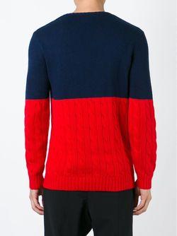 Свитер В Стиле Колор-Блок Ports                                                                                                              красный цвет
