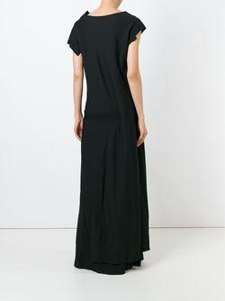 Драпированное Платье Yohji Yamamoto                                                                                                              черный цвет