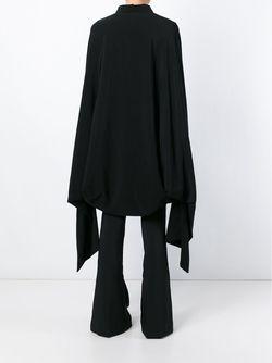 Пальто В Стиле Кейп Yohji Yamamoto                                                                                                              чёрный цвет