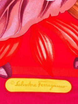 Шарф С Принтом Лилий Salvatore Ferragamo                                                                                                              красный цвет