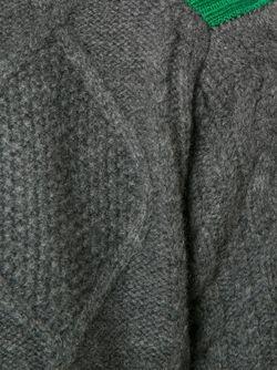 Свитер Аранской Вязки Sacai Luck                                                                                                              серый цвет