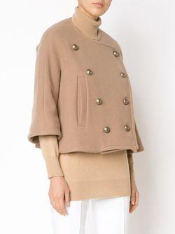Укороченная Двубортная Куртка Chloe                                                                                                              Nude & Neutrals цвет