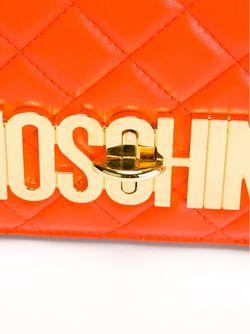 Стеганая Сумка Через Плечо С Логотипом Moschino                                                                                                              желтый цвет