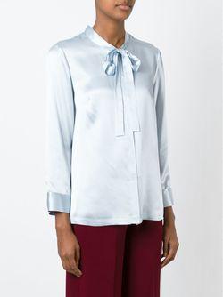 Блузка С Бантом L' Autre Chose                                                                                                              синий цвет