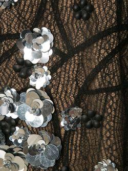 Embellished Layered Lace Dress Vera Wang                                                                                                              чёрный цвет