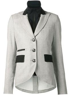 Пиджак С Контрастными Карманами Veronica Beard                                                                                                              серый цвет