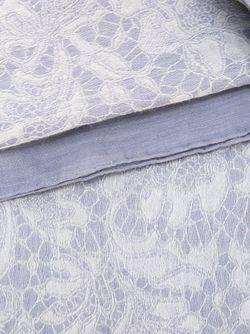 Жаккардовый Шарф С Кружевным Узором Valentino Garavani                                                                                                              серый цвет