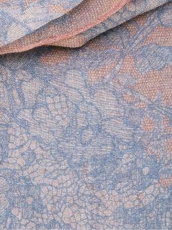 Жаккардовый Шарф С Кружевным Узором Valentino                                                                                                              синий цвет