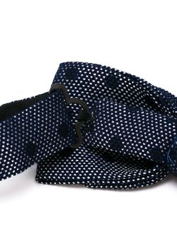 Трикотажный Галстук-Бабочка В Горошек Tonello                                                                                                              синий цвет