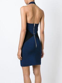Облагеющее Платье С Вырезами Balmain                                                                                                              синий цвет