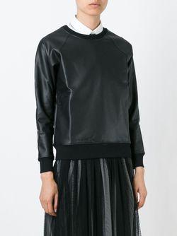 Двухтональная Толстовка Saint Laurent                                                                                                              черный цвет
