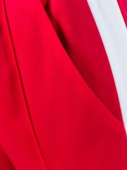Расклешенные Брюки С Контрастными Лампасами MSGM                                                                                                              красный цвет