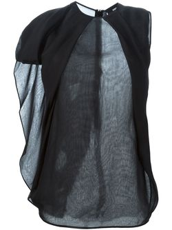 Прозрачная Блузка С Драпированными Деталями Dsquared2                                                                                                              черный цвет